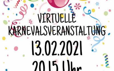 1. virtuelle Karnevalsveranstaltung